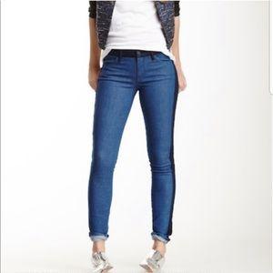 Mother Colorblock Looker in Geometric Lies Jeans